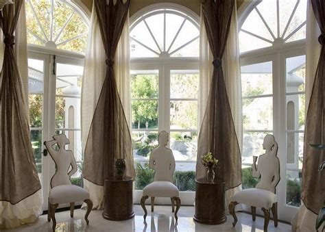 arched top window treatments arch window curtains to