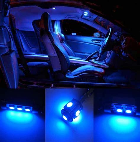 10 Pcs Blue Led Smd Bulb Interior Lights Kit For Vw Polo 6