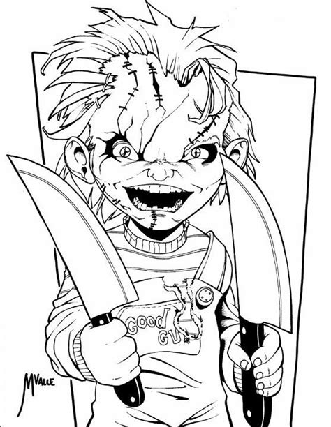 disegni da colorare riverdale chucky awesome things sketches coloring pages drawings
