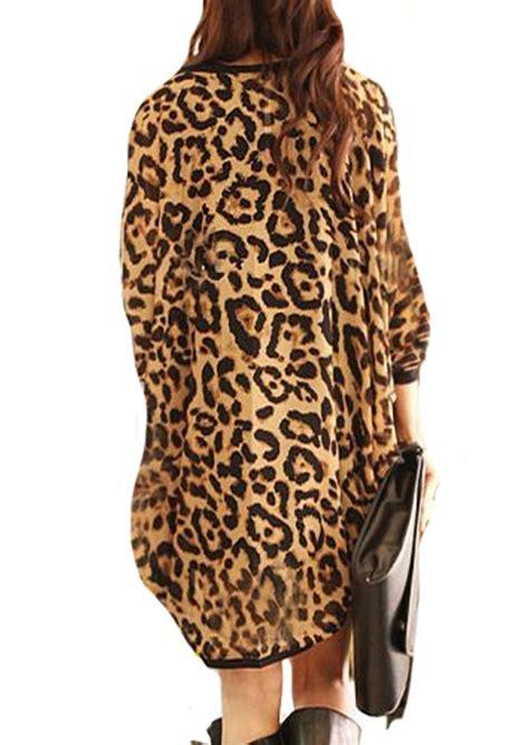 leopard print chiffon cardigan fairyseason