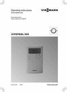 Viesmann Operating Instructions Vitotrol 100 For The