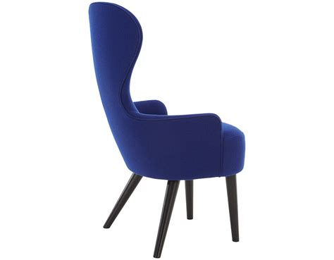 wingback dining chair with wood legs hivemodern