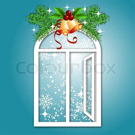 Weihnachtsdeko Fenster Stock by Weihnachten Fenster Stock Vektor Colourbox