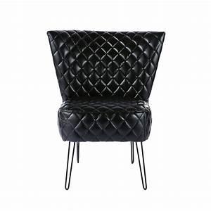 Fauteuil Vintage Scandinave : fauteuil vintage noir scandinave maisons du monde ~ Dode.kayakingforconservation.com Idées de Décoration