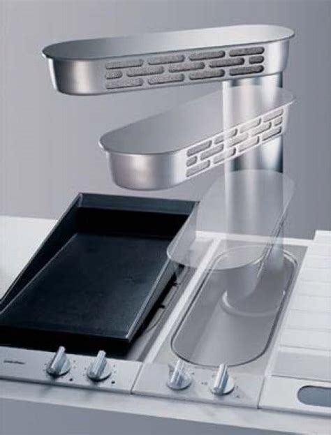 kitchen stove top exhaust fans gaggenau vl051707 7 inch downdraft ventilation system with