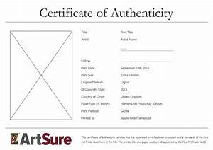 sample certificate of authenticity photography choice With certificate of authenticity photography template