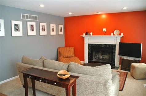 grey orange living room unique color combos