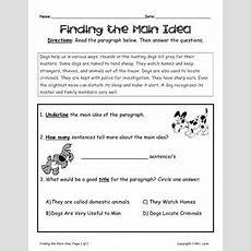 Elementary Main Idea Worksheets By Mrs Lane  Teachers Pay Teachers