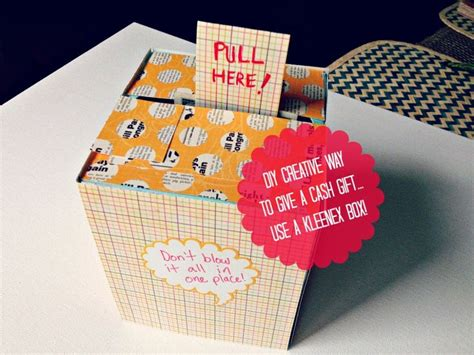 Diy Creative Way To Give A Cash Gift (using A Kleenex Box) Diy Rustic Furniture Ideas Seating Chart Ota Dvr 2017 Wrap Dress Cover Up Christmas Decorations Outdoor Crafts Home Decor Cop Costume For Boy Coffee Cup Designs