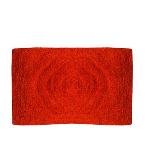 home orange bath mat n contour set by home