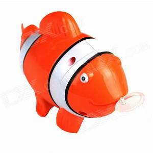 Pull Ring Plastic Tropical Fish Shaped Toy - Orange ...