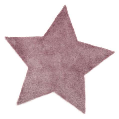 tapis etoile mauve gris 233 pilepoil pour chambre enfant