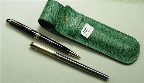 deux stylos mont blanc 224 plume et 224 bille