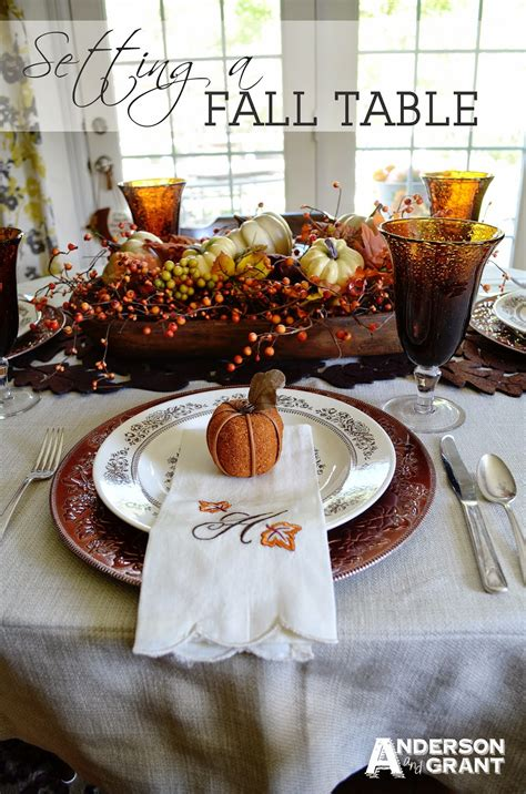how to decorate a table for fall thanksgiving recipes and decor ideas on pinterest