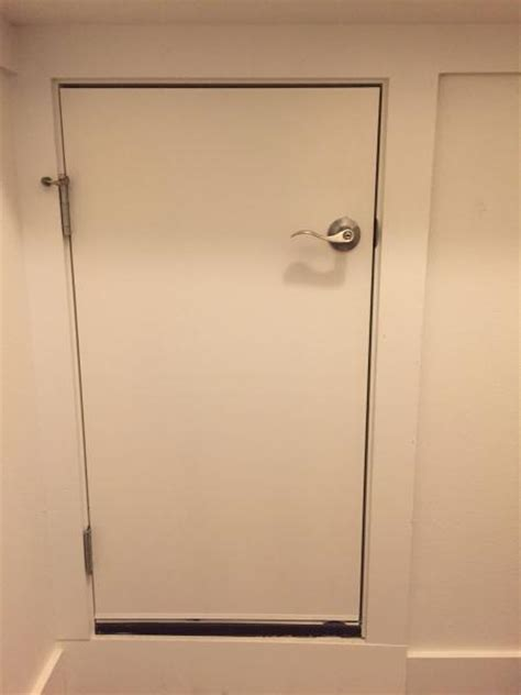 interior door frames home depot prehung smaller door for attic access doityourself com
