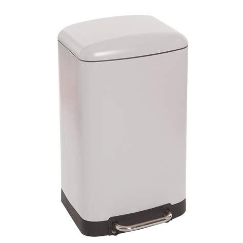 poubelle de cuisine rectangulaire poubelle rectangulaire à pédale 30 litres blanc mat