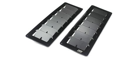 small rectangular universal hood louvers
