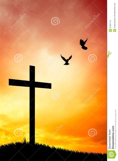 cross silhouette stock images image