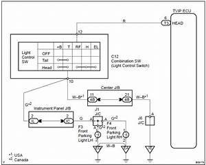 Toyota Corolla Repair Manual  Light Control Switch Circuit