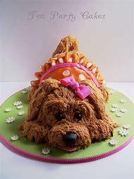 Puppy Dog Shaped Birthday Cake