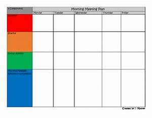 morning meeting planning template by refined teaching tpt With morning meeting lesson plan template