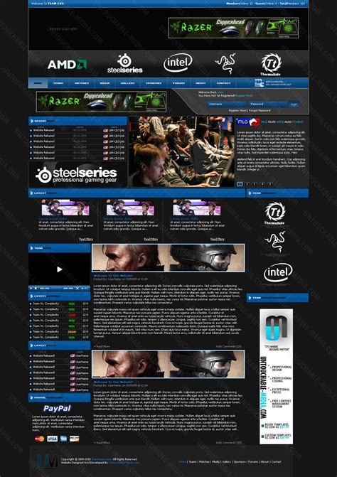 gaming website template invidious gaming template by untouchable media on deviantart