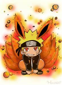 Naruto with Nine Tails Chibi