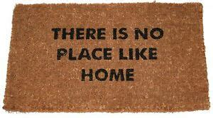 theres no place like home doormat there is no place like home large coir door mat 70 x 40cm
