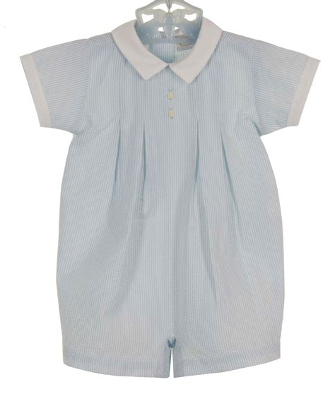 monelli blue striped seersucker romper  bunny