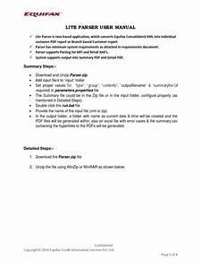 Equifax Lite Parser User Manual Equifax 2015