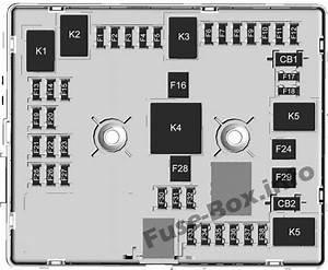Interior Fuse Box Diagram  Chevrolet Express  2010  2011