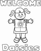 Coloring Scouts Scout Daisy Popular sketch template