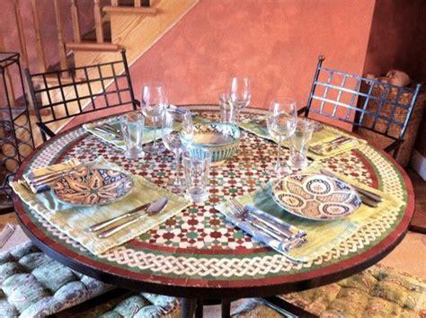 moroccan zellij glazed mosaic tile 52 inch table