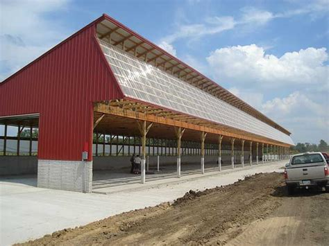 Dairy Cow Shed Design - monoslope cattle barns cattle barn plans and designs