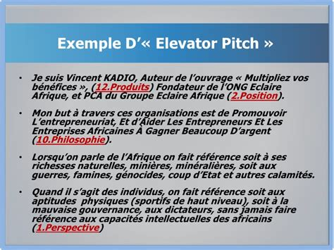 exemple de pitch elevator