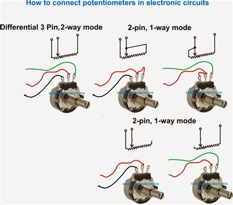 How Potentiometer Pot Works Homemade Circuit Projects