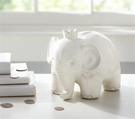 pottery barn wall elephant bank pottery barn