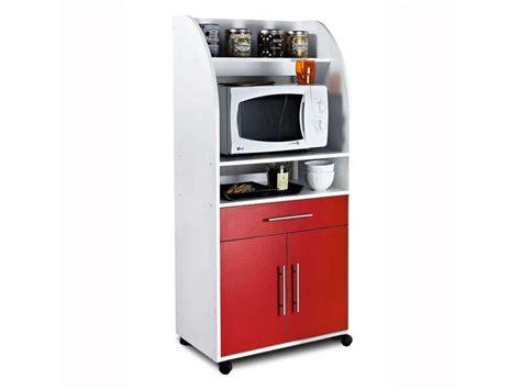 meuble de cuisine pour micro onde desserte à micro ondes 2 portes 1 tiroir conforama
