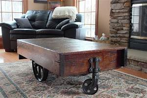 antique coffee table with wheels coffee table design ideas With vintage coffee table with wheels