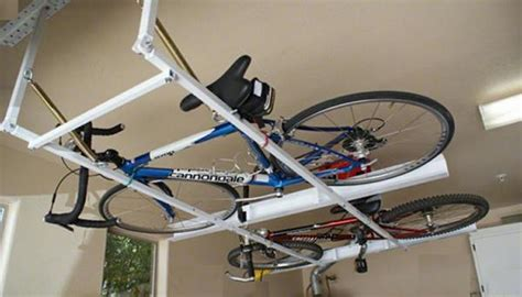 how to store a bike carrier and bike and trainer for that