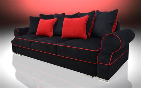 black fabric sofa bed sofa bed 3 seater royal black red velvet fabric