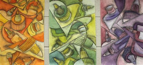 Cubist Inspired Exercise--great For Review Of Color