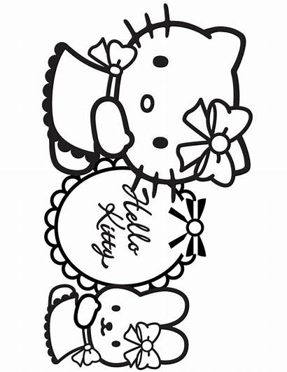 Kitty Hello Coloring Pages Pretty Printable Birthday