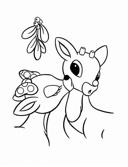 Rudolph Coloring Pages Santa Track Printable Clarice