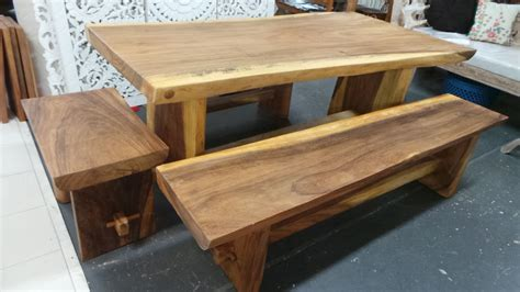 suar wood log slab table cm  bali shop