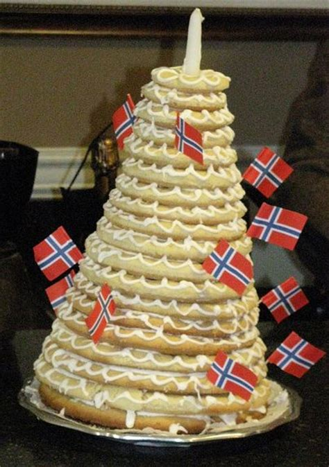 norwegian style wedding cake  flagsjpg