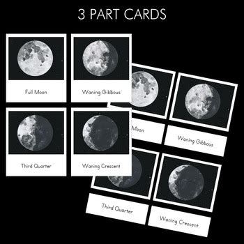 phases   moon montessori  part cards  pinay