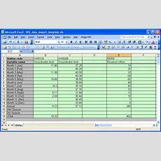 Microsoft Excel Worksheet Example For Data Import  Download Scientific Diagram