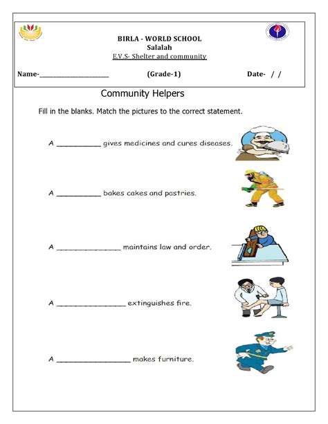 evs worksheets for 1st grade kidz activities
