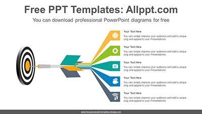 target hit arrow powerpoint diagram template target hit